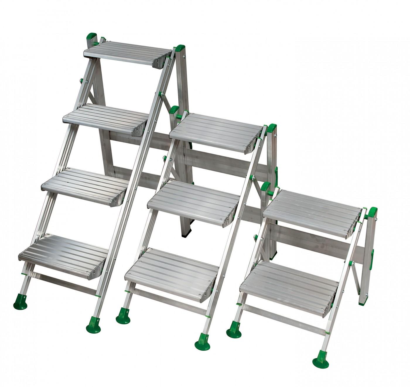 Podiums pliants echelles fabricant passerelles marchepieds echafaudages escaliers - Marchepied 3 marches ...