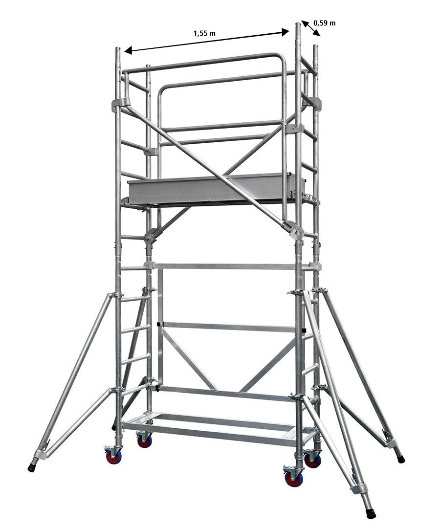 echafaudages docker mini pour passages troits et escaliers roulant aluminium echelles. Black Bedroom Furniture Sets. Home Design Ideas