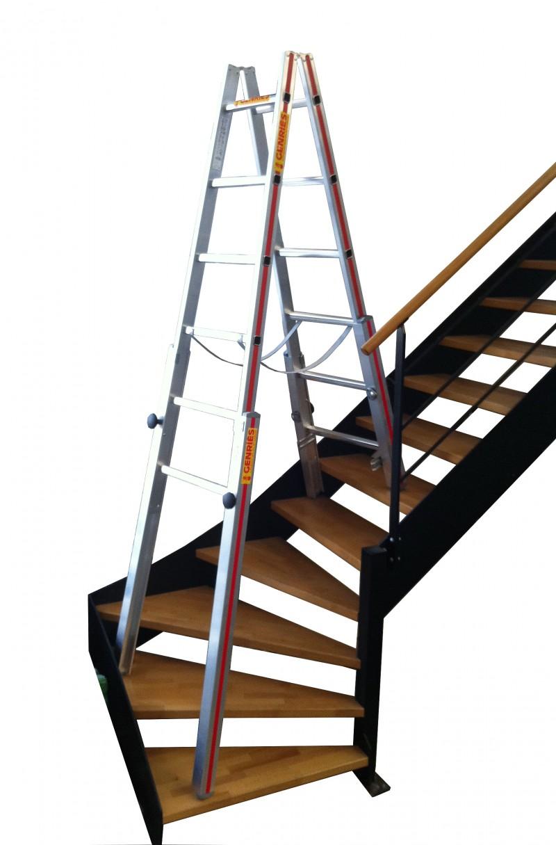 Location echelles doubles specifiques pour escaliers 4 - Location echafaudage escalier ...